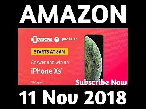 new arrival 4c684 34c20 #Amazon iPhone Xs Quiz Answers. 11 November 2018 | Daily 8AM To 12PM.