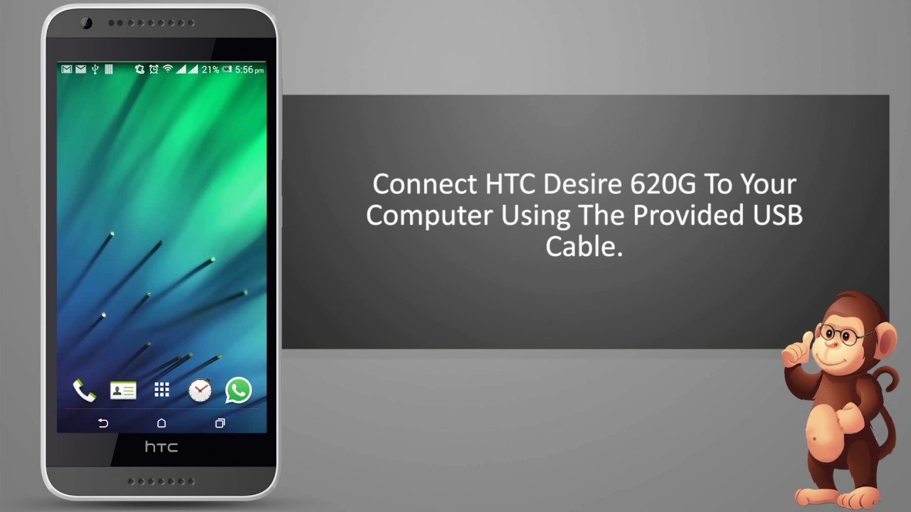 How to connect HTC to computer