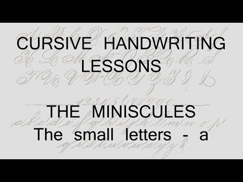 cursive lesson 19 - a - handwriting penmanship calligraphy copperplate