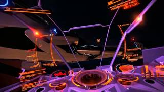 Elite: Dangerous PvP - Plasma Vulture vs Elite Rail Clipper