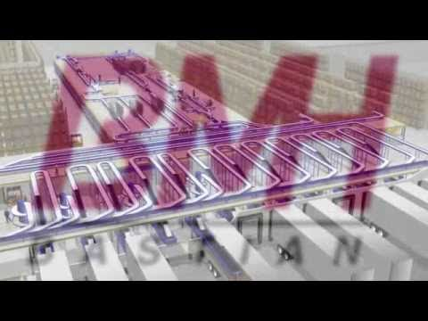 Material Handling System Walk Through Animation - Industrial Material Handling Equipment