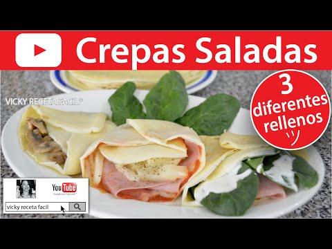CREPAS SALADAS | Vicky Receta Facil