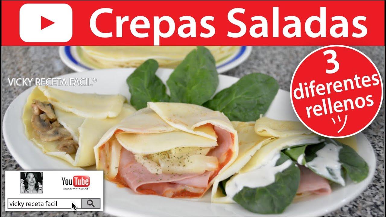 Crepas Saladas Vicky Receta Facil