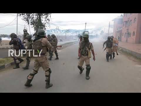 India: Police fire pellet guns at protesters in Srinagar after Eid prayers