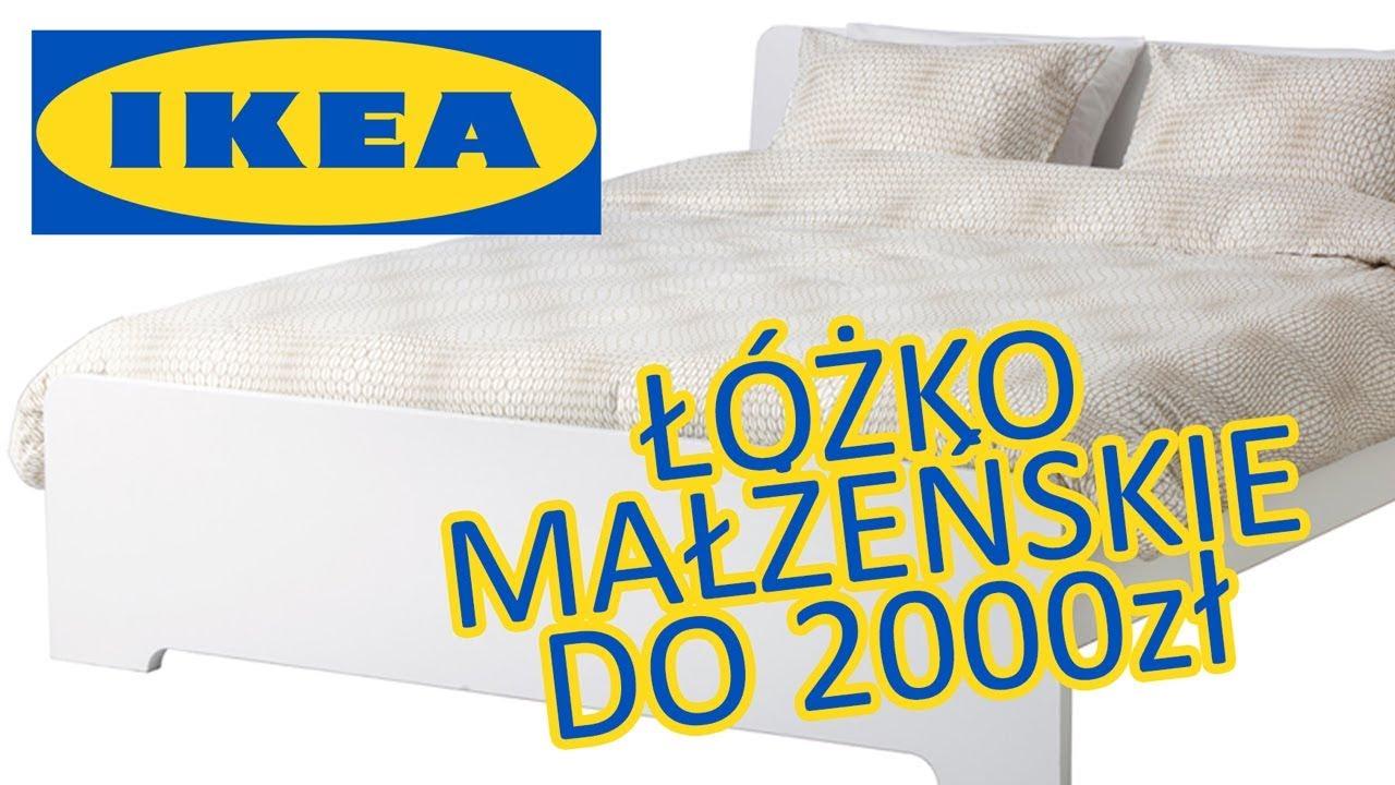 łóżko Małżeńskie 140x200 Z Ikea Do 2000zł Askvoll Matrand