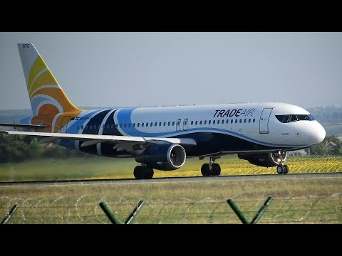 4K - Trade Air Airbus A320-212 Takeoff From Belgrade Airport