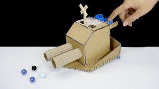 DIY Warship Battle Marble Game from Cardboard