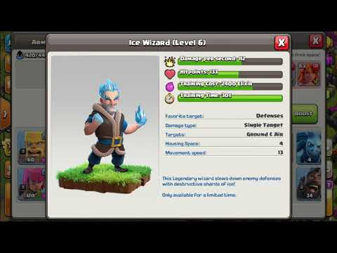 New Troops Ice Wizard And Yeti Clash Of Clan New Update