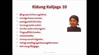 Mantrawedha 10 Kidung Sunan Kalijaga (Macapat Dhandhang Gula Slendro)