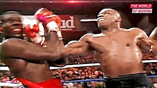 Brutal confrontation between Mike Tyson and Frank Bruno