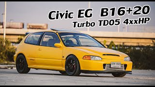 พาไปซื้อ EP.21 Civic EG 3Dr 16+20 Turbo 4xxHP.