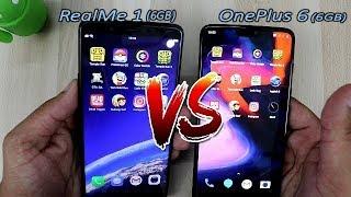 OnePlus 6 Vs RealMe 1 Comparision !! 6GB RAM Speed Comparision !! HINDI