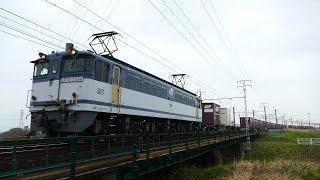 2019/03/30 JR貨物 安間川橋りょうを渡る2本の専用貨物列車と遅れ5087レ