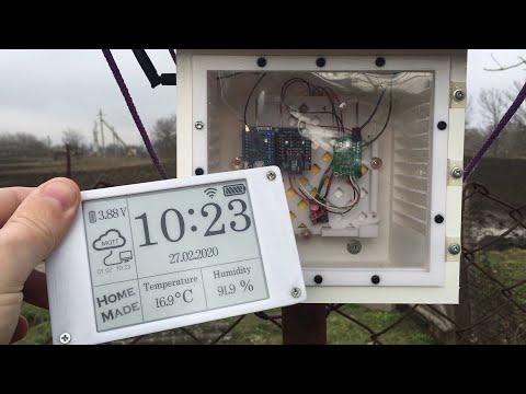 Погодная станция на ESP8266, MQTT и Epaper дисплее