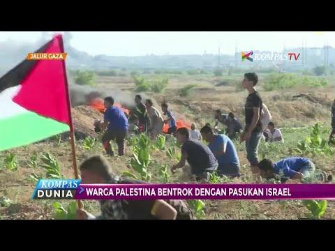 Palestina Bersitegang Dengan Tentara Israel Di Jalur Gaza