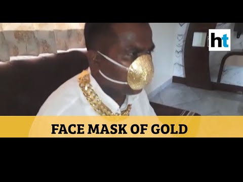 Face mask of gold: Pune man splurges Rs 2.8 lakh on unique mask amid Covid