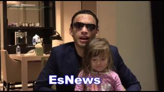 Julio Cesar Chavez Jr Tells Baby Girl 'A Wolf Bit Me' She Answers 'Canelo Hit You' EsNews Boxing