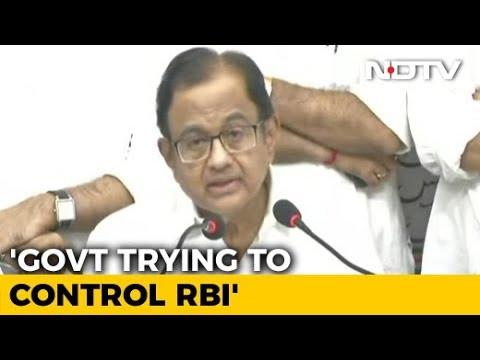 """November 19 Day Of Reckoning"": P Chidambaram Ahead Of Key RBI Meet"