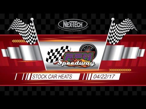 RPM Speedway IMCA Stock Car Heats 4/22/17