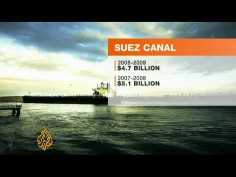 Egypt suffers from Suez Canal revenue loss - 26 Jul 09 thumbnail