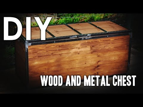 DIY Wood and Metal Chest