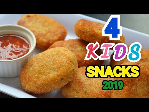 4 KIDS SNACKS By (YES I CAN COOK) #Nuggets #BreadPizza #FrenchFries #ClubSandwich #KidsSnacks