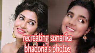 Recreating sonarika bhadoria's pictures || #recreatingfriday  || shreeya n || anarkali
