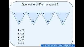 Comment réussir les tests de QI? Test série numériques triangle corrigé 2