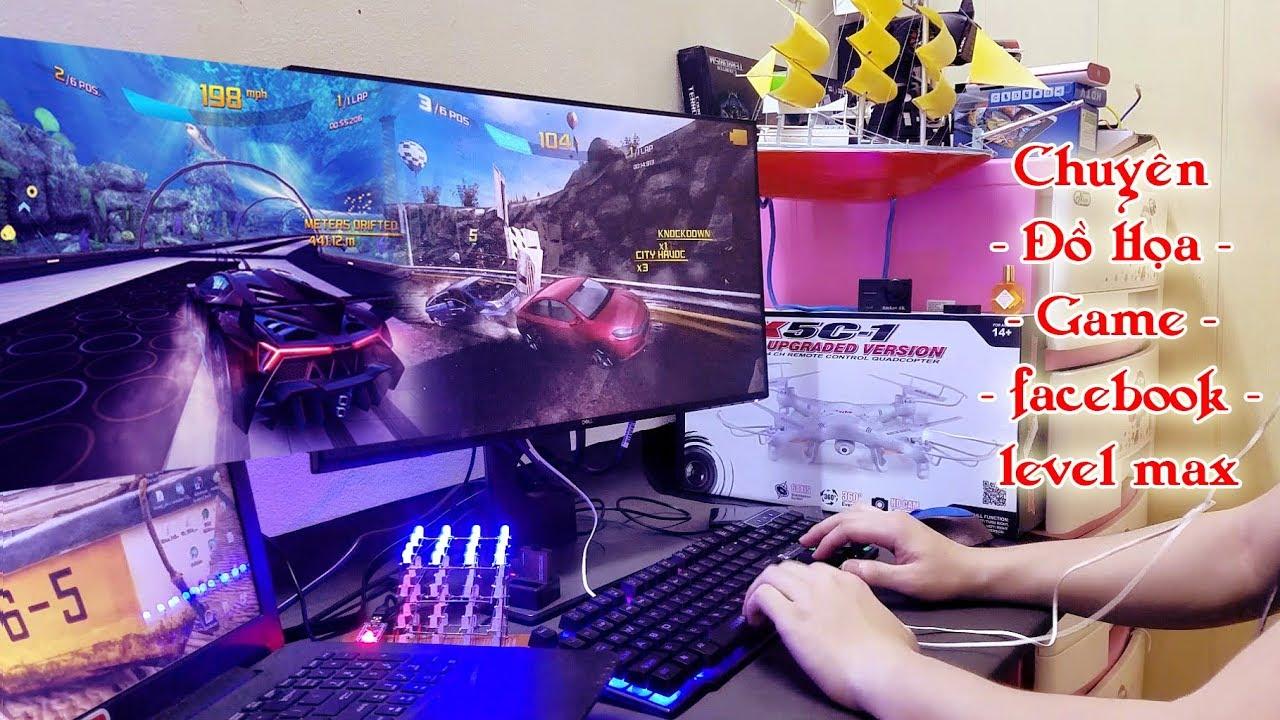 Mở hộp Trải Nghiệm Màn Hình Dell Ultrasharp U2417h Chuyên Đồ Họa Game Facebook