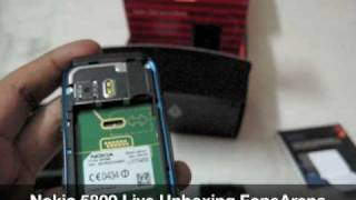Nokia 5800 Live Unboxing - FoneArena India