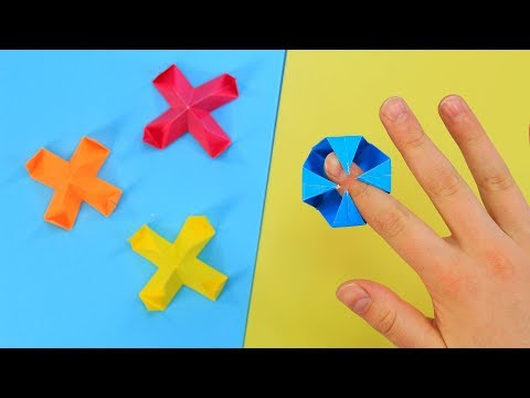 Ловушка для пальцев / Оригами игрушка из бумаги