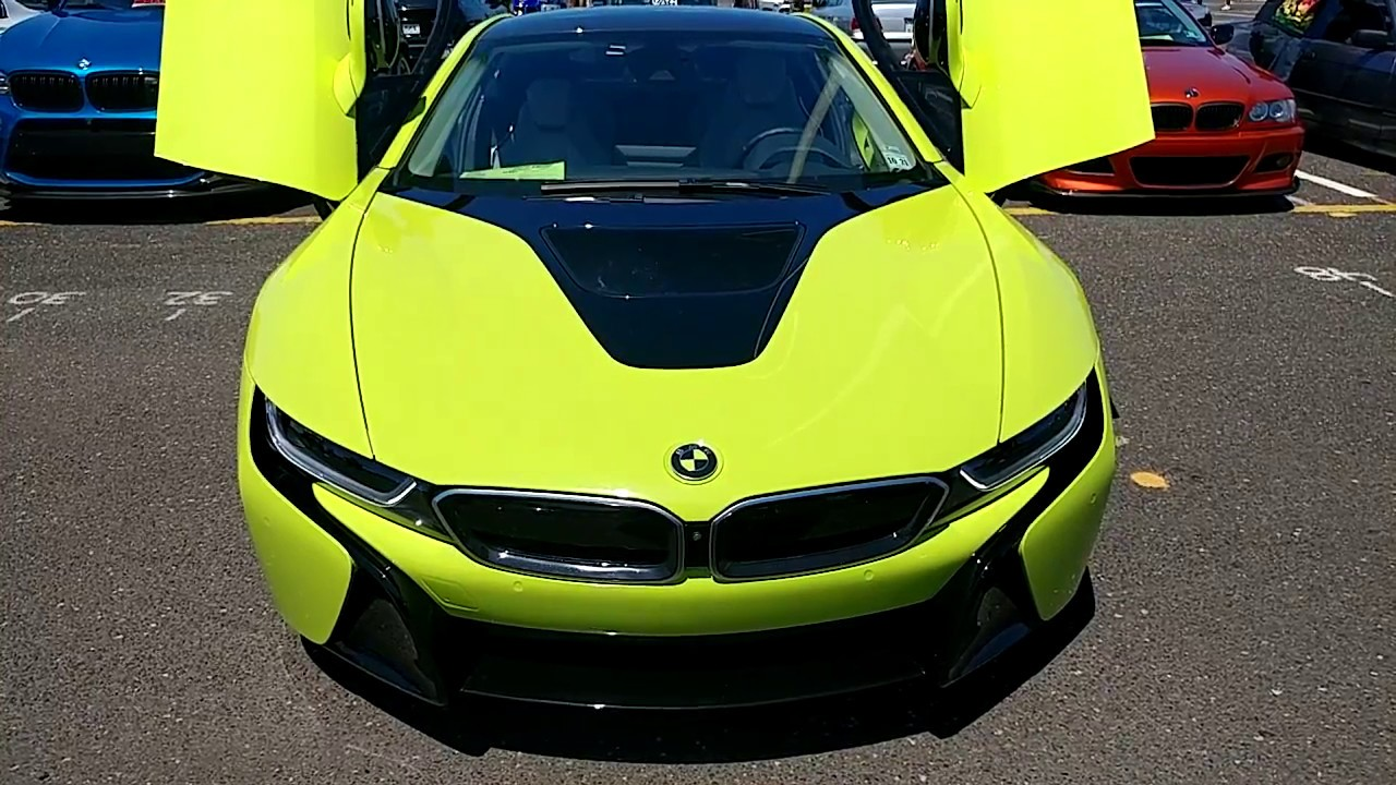 2016 Silver Bmw I8 Wrapped In Lime Green Youtube