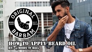 Original Barbam promo: How to apply beard oil + balm(The guys over at Original Barbam have given me some of their products to test. I've been using these for a couple of months now and I have to say that I ..., 2015-08-17T09:28:39.000Z)
