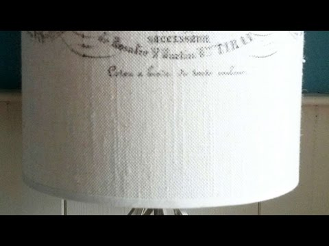 How To Make A Custom Lampshade - DIY Home Tutorial - Guidecentral