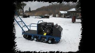 Тест мотосабаки после доработок!  Буксируем CR-V. Глубокий снег.
