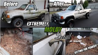Resurrection Disaster Barn Find Detail On Mold Infested 1985 Toyota 4x4 Was Sitting For Years!!!