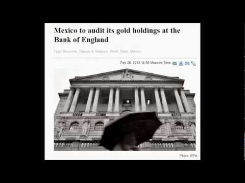 Mexico to audit its gold holdings at the Bank of England