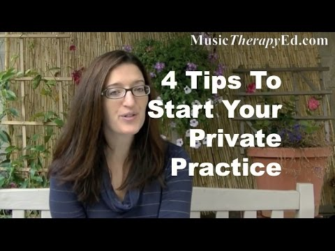 4 Tips To Start Your Private Practice