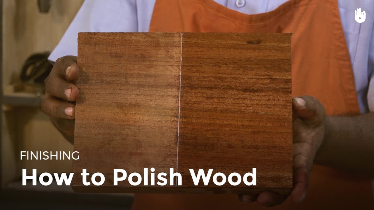 How to Polish Wood | Woodworking - YouTube