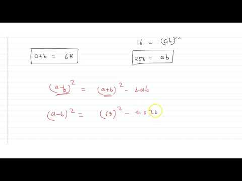 Find Two Numbers Whose Arithmetic Mean Is `34` And The Geometric Mean Is `16`