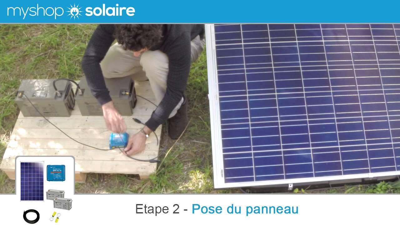 myshop solaire montage d 39 un kit panneau solaire 250w autonome 24v youtube. Black Bedroom Furniture Sets. Home Design Ideas