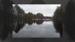 Kayaking in Hossa, Suomussalmi muncipality, eastern part of Finland