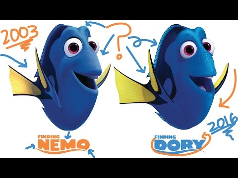 finding nemo vs finding dory characters then and now. Black Bedroom Furniture Sets. Home Design Ideas