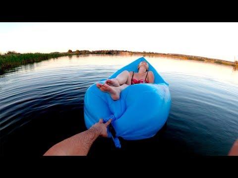 Обзор Надувной гамак Ламзак на воде!