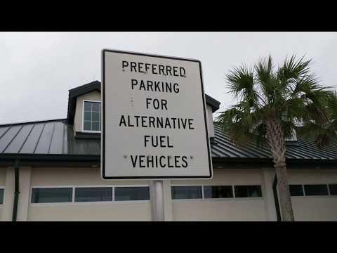 Reserved Parking For Alternative Fueled Vehicles | i75 Rest Stop Florida