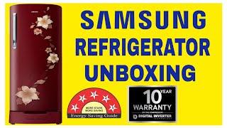 Samsung 192 L Direct Cool Single Door 2 Star Refrigerator Star Flower Red RR19N1822R2 HL
