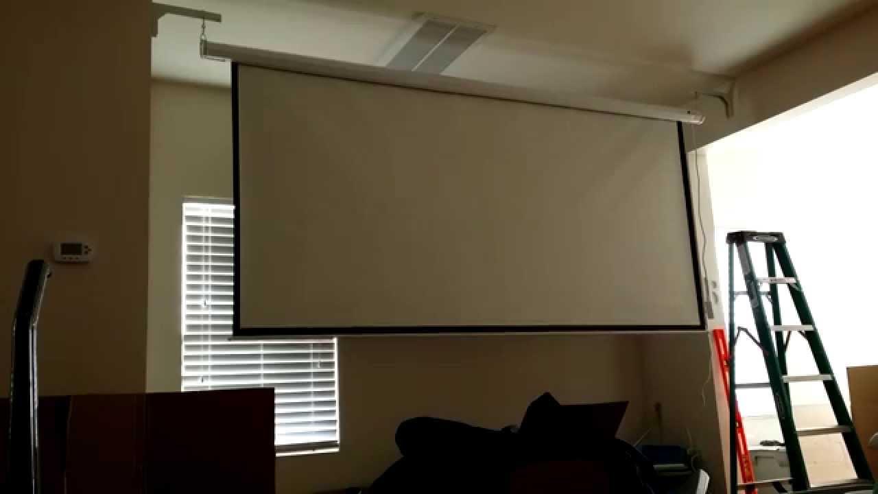 """Homegear 120"""" HD Motorized 16:9 Projector Screen W/ Remote ..."""