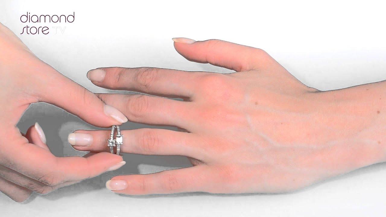 FT63 - Beautiful 1.15ct Ideal Prince and Princess Cut Diamond and ...