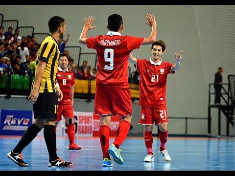 HIGHLIGHT ฟุตซอล ชิงแชมป์อาเซียน 2015 : ไทย 6-1 มาเลเซีย