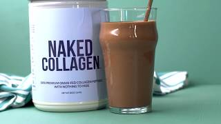 Easy &amp Delicious Chocolate Collagen Protein Shake Recipe  Naked Nutrition